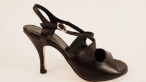 Scarpa da tango nappa nera