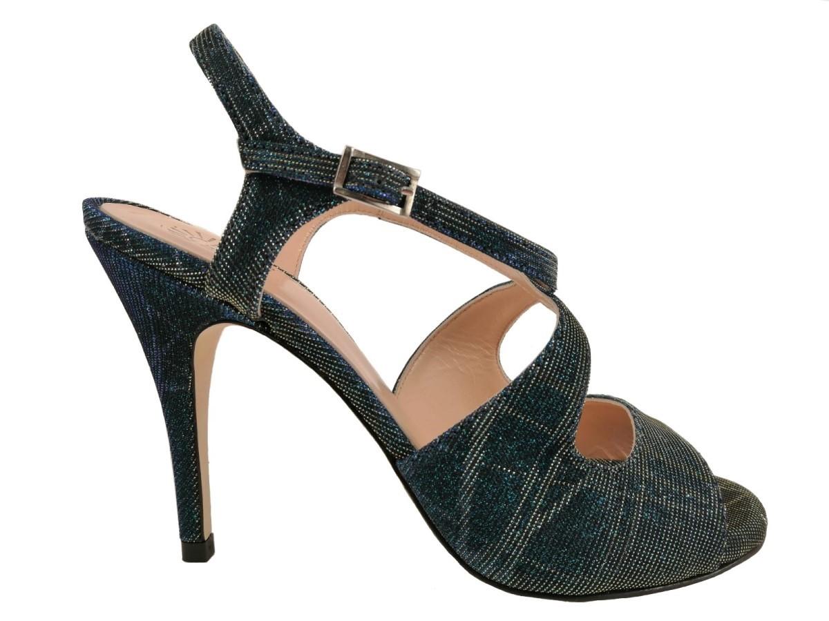 on sale 61e37 d1dc6 Scarpe da Tango - Dita lurex pavone Tacco 10