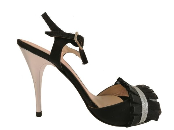 più vicino a 50% di sconto prodotti di qualità Scarpe da Tango - Isabella raso/nero rouche Tacco 10 - Sur Scarpe ...