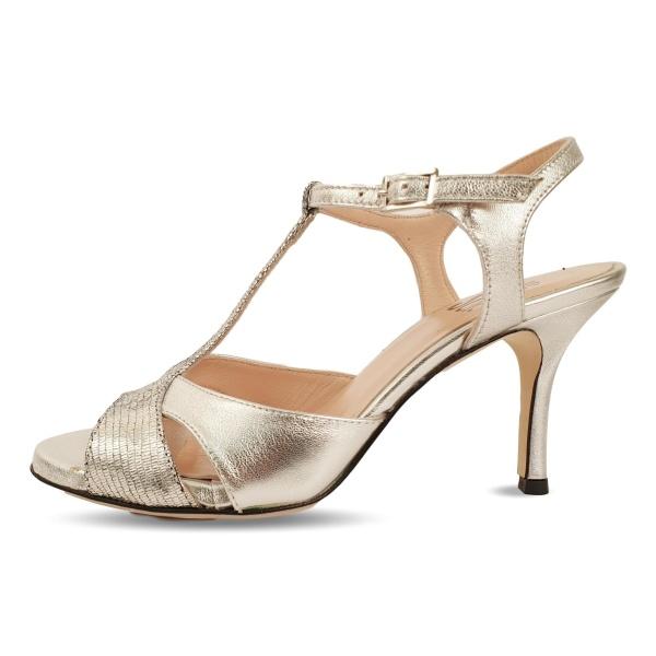 profilo scarpe da tango corinna argento laminato